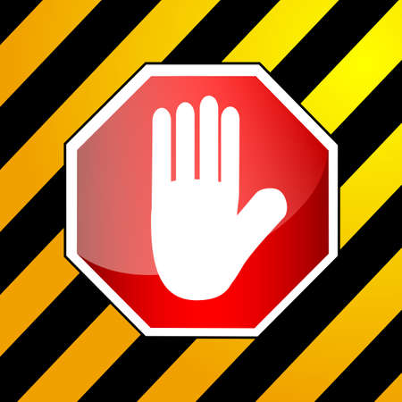 stop icon: Simple vector Sign - Stop