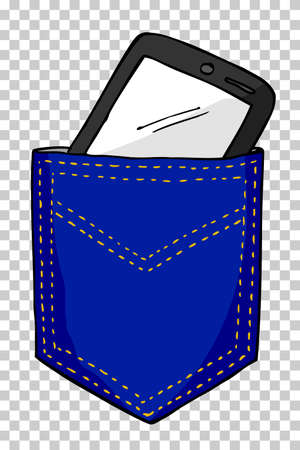 pant: Smartphone in the Back Pocket Stock Photo