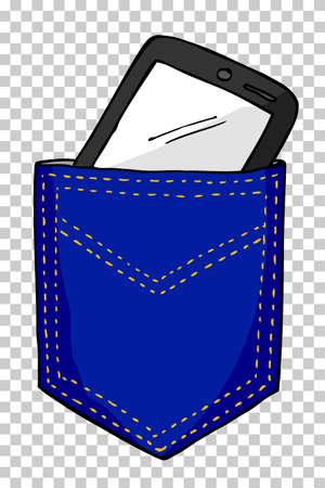 pocket: Smartphone in the Back Pocket Stock Photo
