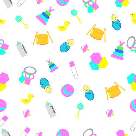 Seamless background baby toys