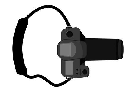 DSLR - View From Top, isolated on white