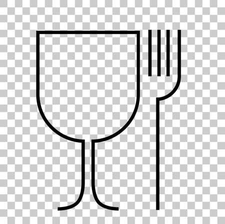 Food Grade Symbol at transparent effect background Stock Photo