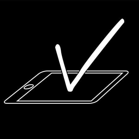 Illustration for electronic vote