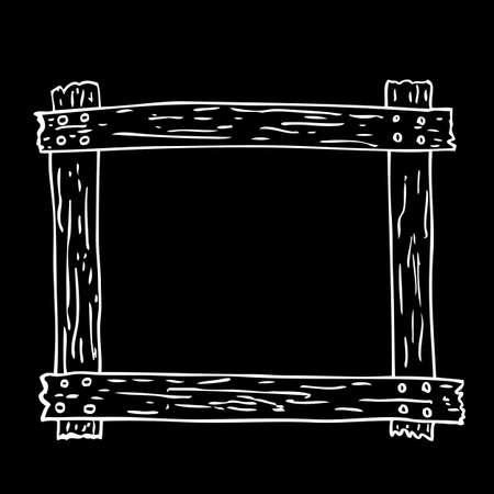 Hand Draw Sketch of Wooden Frame Zdjęcie Seryjne - 82791190