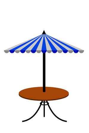 brolly: Table with Canopy