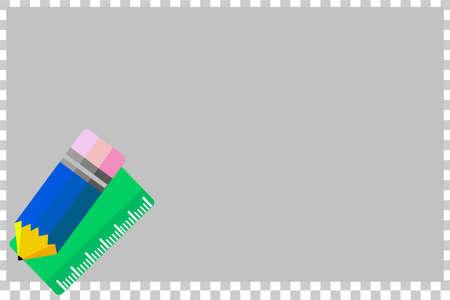 연필과 룰러가있는 빈 메모 용지 스톡 콘텐츠
