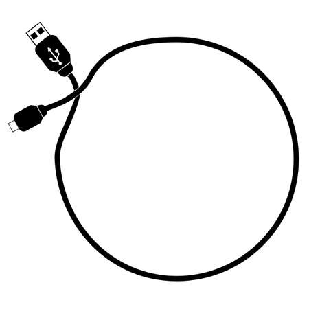 Circle Frame, USB Cable