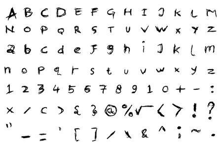clumsy: hand draw sketch Font - Black Pen
