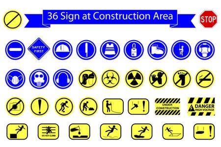 Mandatory Sign at Construction Area Reklamní fotografie