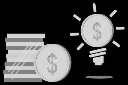 one us dollar coin: Business Idea - (Silver Dollar Coin) Stock Photo