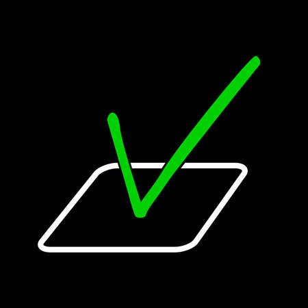 Symbol of Vote, at Black Background Stock Photo