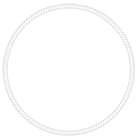 circle shape: Frame - Rope (Circle Shape)