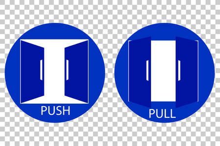 pull: Push and Pull Sign at Transparent Effect Background