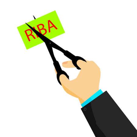 Man Cutting Riba (Bank Interest in indonesia or arabic language)