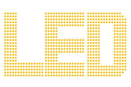 Yellow LED Symbol, Isolated on white