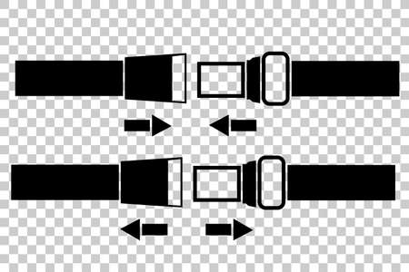 cinturon seguridad: Safety Belt at Transparent Effect Background