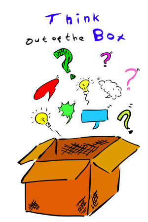 Illustration for Think out of the Box