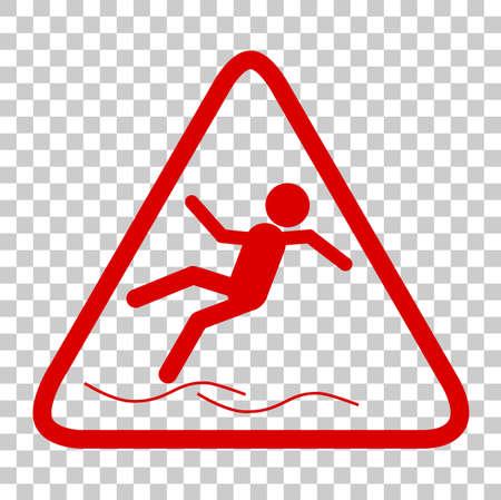 Slippery Sign Illustration