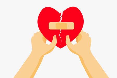 betrayal: Illustration for Fixing a Broken Heart Illustration