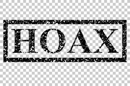 faked: Rubber Stamp - Hoax, Mark for Fake News or Information, at Transparent Effect Background