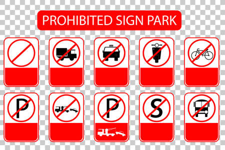 Prohibited Sign at Park Area, Just add Local or International Text at Transparent Effect Background, Without Text