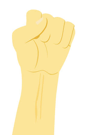 Human hand Up Vector Illustration Stock Photo
