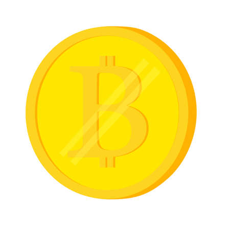 speculation: Bit Coin, Isolated on White