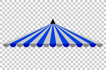 Canopy, Triangle Blue and White Stock Photo