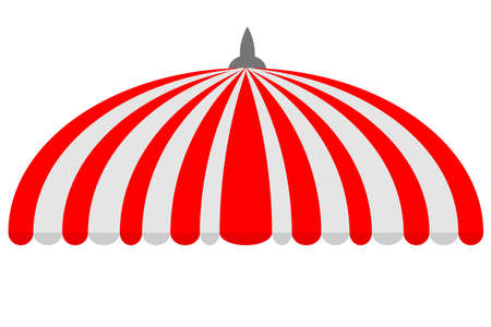 Canopy,Half Circle, Red and White Banque d'images