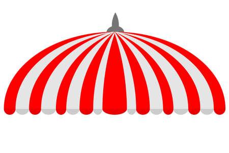 Canopy, Halfcirkel, Rood en Wit