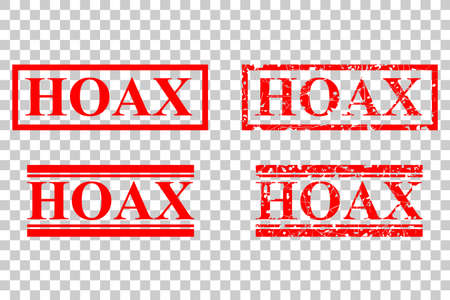Rubber Stamp - Hoax, Mark for Fake News