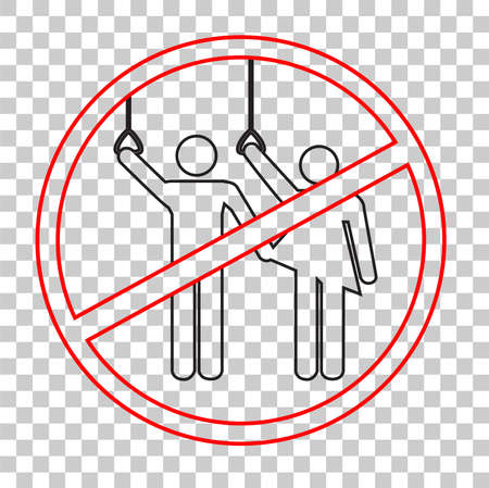 Icône: signe interdit - aucun abus sexuel