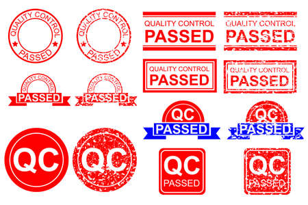 Rubber Stamp Effect - Quality Control Checked