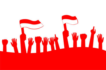 Template Background : Indonesia Independence Day