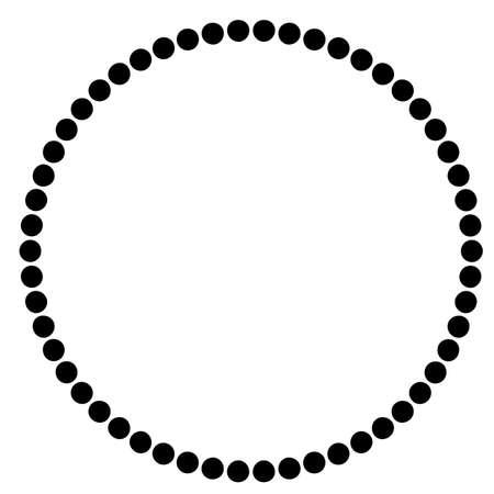 Kreis-Rahmen - schwarze Punkte, getrennt auf Weiß