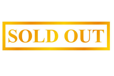 Golden Stamp, Sold Out, Isolated on White