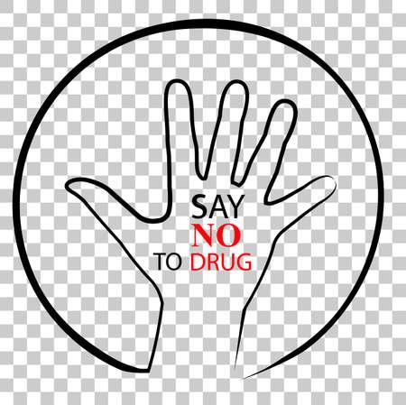 Illustration for No Drug, at Transparent Effect Background