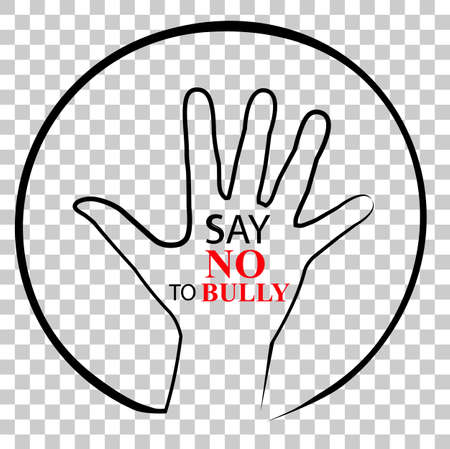 Sign, No Bully, at Transparent Effect Background Stock Photo