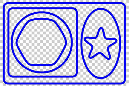 Various Shape : Frame from blue rope for Your Element Design at Transparent Effect Background