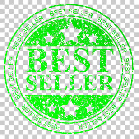 trusted: Green Circle Rubber Stamp : Best Seller, at Transparent Effect Background Stock Photo