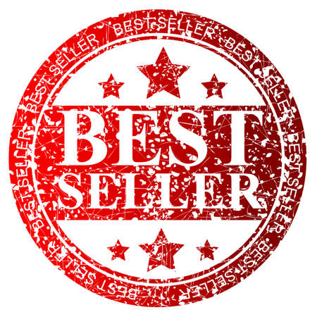 trusted: Red Rubber Stamp : Best Seller, Isolated on White Stock Photo