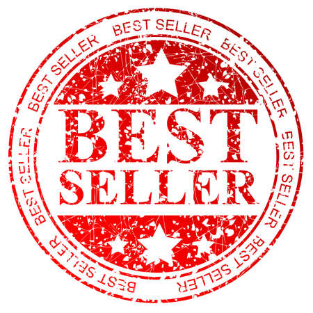 trusted: Red Circle Rubber Stamp : Best Seller, Isolated on White