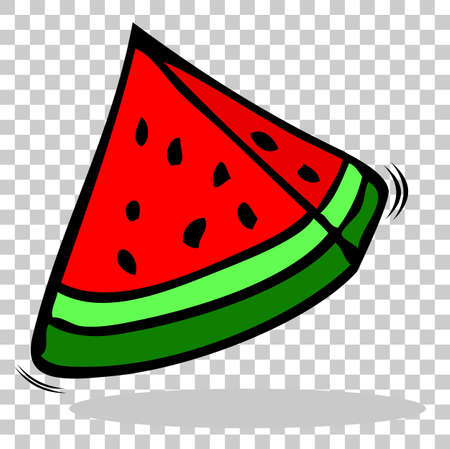 Sketchy Watermelon, at Transparent Effect Background