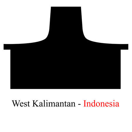 Silhouette West Kalimantan, Indonesia Traditional Building