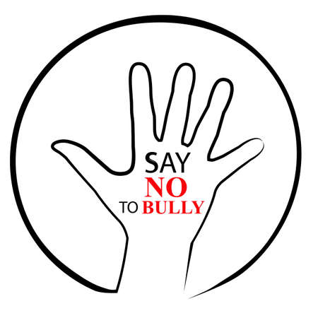 Illustration Stop Bullying Stock Photo