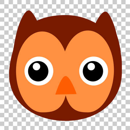 Funny Owl Face, at Transparent Effect Background Stock Photo