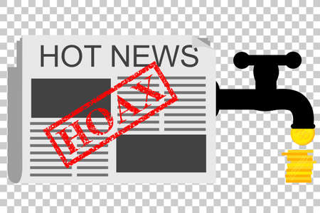 Illustration for Get Earn from Hoax (Fake) News, at Transparent Effect Background