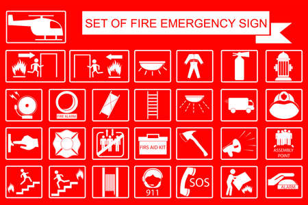 sign of Emergency Stock Photo