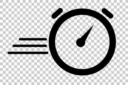 Illustration for Duration of Deadline  Dateline, Icon of Stop Watch or Fast Processing, at Transparent Effect Background