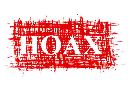 Hand Draw, Red Streak Sign - Hoax